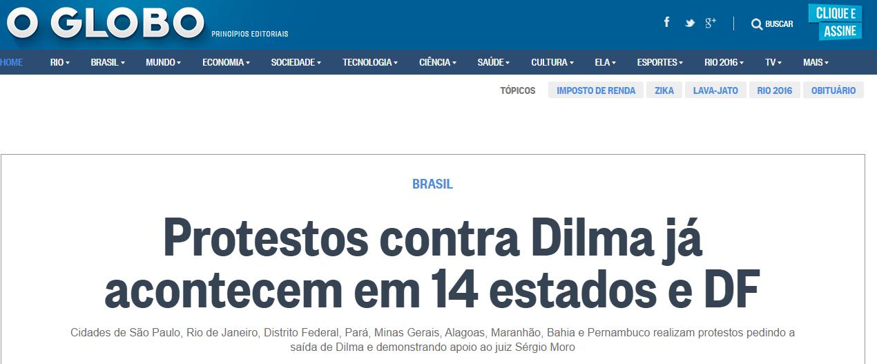 Globo-Contra Dilma