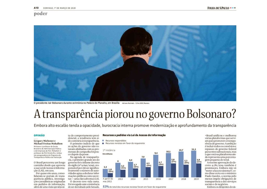 Transparency under bolsonaro